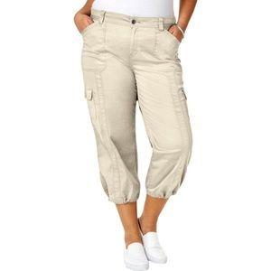NWT Style & Co Plus Size Cotton Bungee Cargo Capri